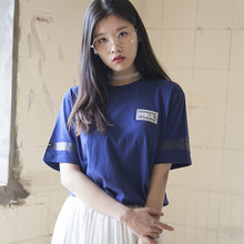 (35%할인)[MSUL] Logo Wappen Color Short Tee - Blue
