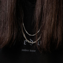 [Blessed Bullet](SILVER)3.5mm classic chain necklace