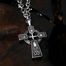 [ 31% SALE ][Blessed Bullet](SILVER)Ribirth Cross Necklace
