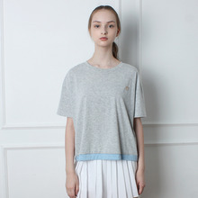 [TOi] Blue Point Loose T shirt - Gray