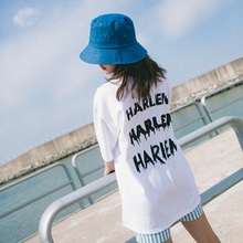[30%할인][Double adrenaline syndrome] HARLEM Basic 1/2 T-shirt_WHITE