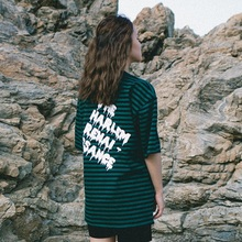[30%할인][Double adrenaline syndrome] Basic stripe 1/2 T-shirt_GREEN