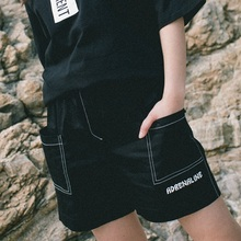 [30%할인][Double adrenaline syndrome] Basic half pants - BLACK