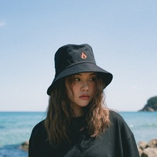 [20%할인][Double adrenaline syndrome] FIRE POINT BUCKET HAT - BLACK