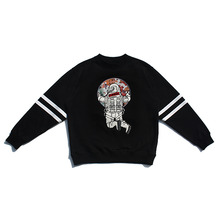 [30%할인][PL.HAMING]Astronaut Back sweatshirts - BLACK