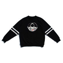 [30%할인][PL.HAMING]Astronaut Front sweatshirts - BLACK