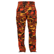 [Rothco] Color Camo Tactical BDU Pant - Savage Orange Camo