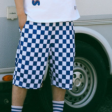[Bornchamps] BC-R CHECK PANTS - BLUE