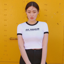 [A PIECE OF CAKE] GG Trailer Crop Top_White