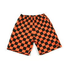 [A PIECE OF CAKE] GG Trailer Checkerboard 1/2 Pants_Orange