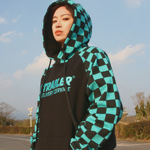 [A PIECE OF CAKE] GG Trailer Checkerboard Hoodie_Mint