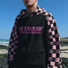 [A PIECE OF CAKE] GG Trailer Checkerboard Hoodie_Pink