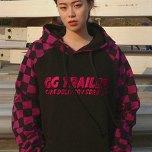 [A PIECE OF CAKE] GG Trailer Checkerboard Hoodie_Purple