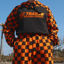[A PIECE OF CAKE] GG Trailer Checkerboard Hoodie_Orange