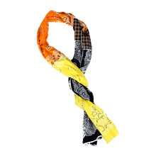 [KRUCHI] Paisley x 3 Scarf - (yellow,orange,navy)