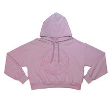 [NBSP] B-girl printed crop-hoodie - Purple