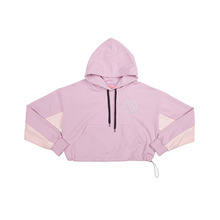 [NBSP] B-girl color-block crop-hoodie - Purple