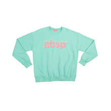 [NBSP] Double logo printed sweatshirts - Mint
