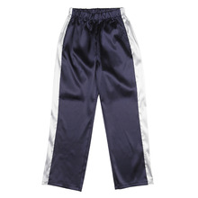 [NBSP] Shining charmeuse pants (2size) - Navy