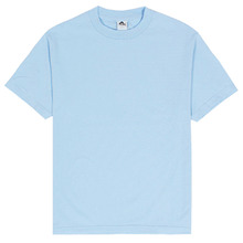 (1301)Adult Short Sleeve Tee - Powder Blue