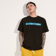 [BASEMOMENT] BOLT LOGO T-SHIRT - BLACK