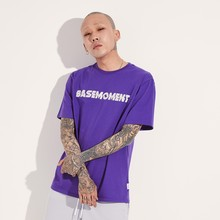 [BASEMOMENT] BOLT LOGO T-SHIRT - PURPLE