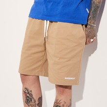 [BASEMOMENT] BANDING CHINO SHORT - BEIGE