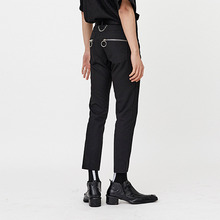 [OY] ZIPPER CROP PANTS - BLACK