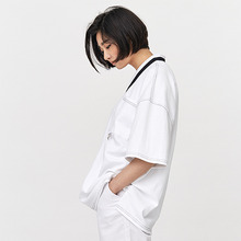 [OY] OVERSIZE STITCH T - WH