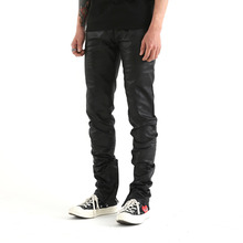 [Maremoto]black coting zip-up jean