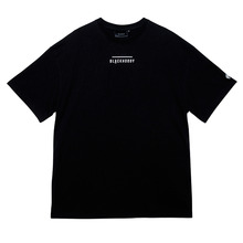 [Black Hoody]Line Logo Tour 1/2 Tee - Black