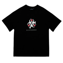 [Black Hoody]Rose Advisory 1/2 Tee - Black