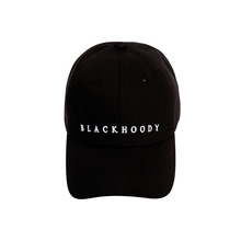 [Black Hoody]Basic Logo Soft Cap - Black
