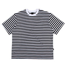 [10%할인][EINEN]Peerless Fake Stripe 1/2 T-Shirts White&Black