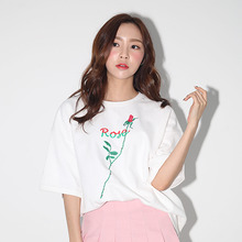 [AROUND80][20%할인][5/29 예약배송]] ROSE T-SHIRTS _WHITE