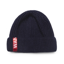 [WANTON] vol.2 red tap short beanie navy