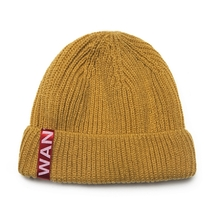 [WANTON] vol.2 red tap short beanie mustard