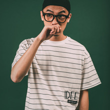 [ 50% SALE ][ 아이디픽스스위치 ] LOGO STRIPE T- O/White