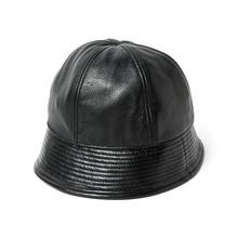 [AGINGCCC]59# CALF SKIN SAILOR HAT