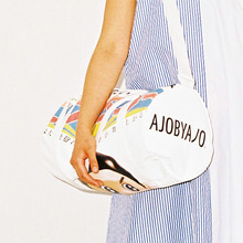 [30%할인] [AJOBYAJO] Graphic Duffle Bag (White)