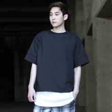 [DAIR LEN MODE]Wide shirts tee (black)