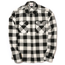 [MAGNUMX] CHECK FLANNEL SHIRT (WHIET/BLACK)