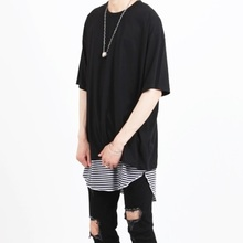 [Nar_Yoke] Basic Overfit T-Shirt - Black