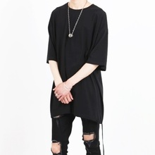 [Nar_Yoke] Two-Way Super Overfit T-Shirt - Black