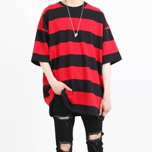 [Nar_Yoke] Super Overfit T-Shirt - Black/Red