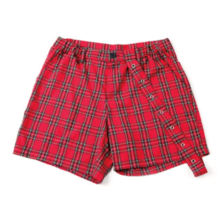 [20%할인] [NEVERCOMMON] EYELET CHECK SHORT PANTS