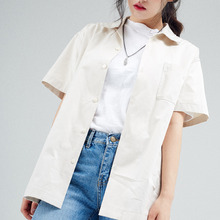 [30%할인][INTAR] OPEN COLLAR HALF SHIRTS - BEIGE