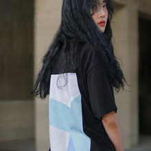[MUTEMENT][30%할인]MUTE COLORBLOCK 1/2 T-SHIRTS(BLACK)