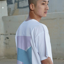[MUTEMENT][30%할인] MUTE COLORBLOCK 1/2 T-SHIRTS(WHITE)
