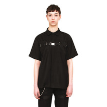 [20%할인][VERDAMT] Belted Shirt - Black